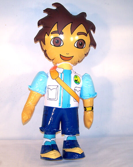 12 DIEGO INFLATEABLE 24 IN TOY doll pet pet pet rescue inflate blowup novelty toys new 036635