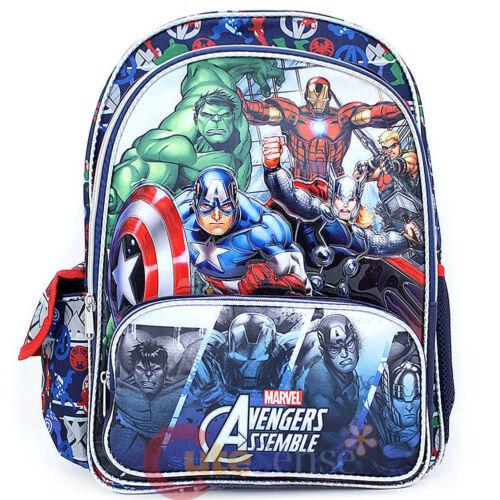 Marvel Avengers Assemble Grand Sac à Dos Scolaire 40.6cm Cartable Hero/'s
