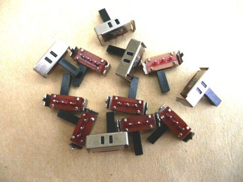 10 x Interrupteur Inverseur à glissière 1RT coudés                      IVG1RTCC