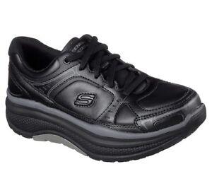 Skechers-Work-Black-shoes-Women-Memory-Foam-Slip-Resistant-Rocker-Comfort-77218