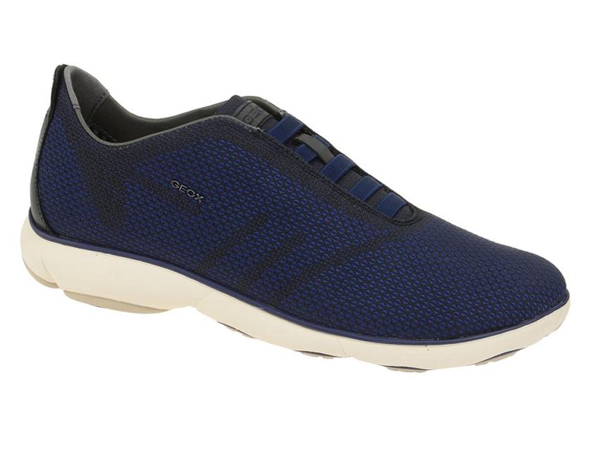 Sehr bequeme Geox Sneakers Nebula blau Leder U64D7B 000ZI C0242 am billigsten