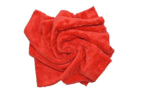 """6pcs Microfiber Towel Edgeless Scratch Free Cleaning Clothes 16/""""x16/"""" Red"""
