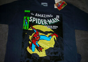 New Era Men/'s Marvel Comics The Amazing Spiderman S//S Tee Medium