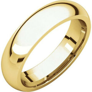 10k White Gold 3mm Engravable Half Round Band