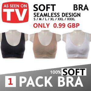 87d65bae874a0 Women PACK OF 3 Seamless Vest type Sports Bra Comfy Bras Color Black ...