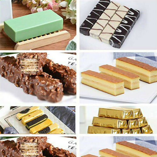 8-Cavity Silicone Rectangle Cake Mold Ice Cube Soap Mould Chocolate Baking Tray