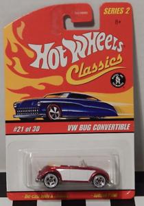 Hot Wheels Classics Series 2 #21 Red Volkswagen Bug Convertible