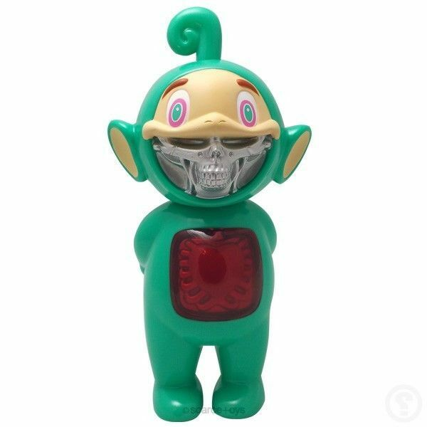 Teal Telegrinnies Normal Edition Red Cover 8  Vinyl Figure by Ron ENGLISH Grin