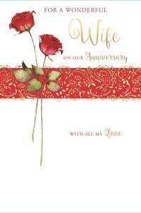 9 Anniversario Di Matrimonio.Moglie Anniversario Di Matrimonio Card Oro Metallizzato Il Testo