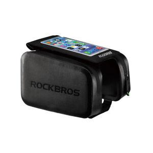 "RockBros Cycling Waterproof Frame Tube Bag 6.0/"" Touch Screen Phone Bag Black"