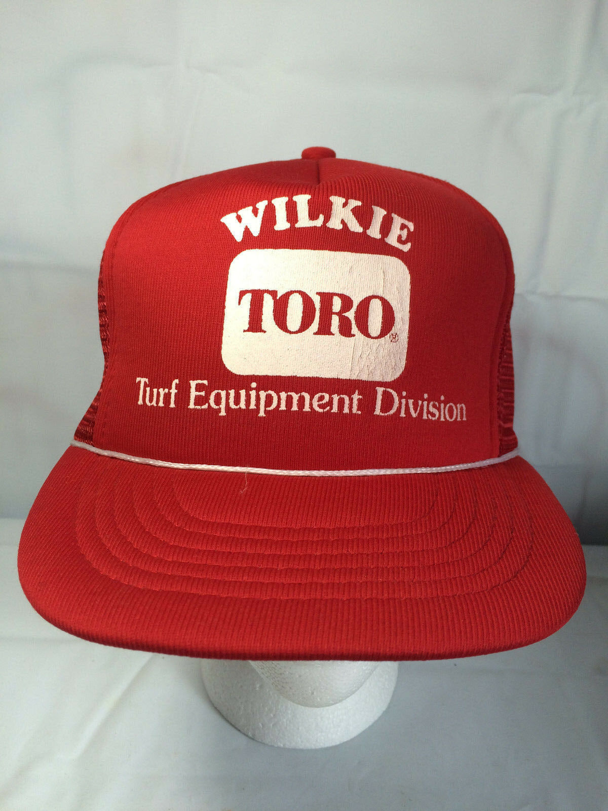 Red WILKIE Baseball TORO Turf Equipment Division Mesh Baseball WILKIE Trucker Hat Cap 0611a8