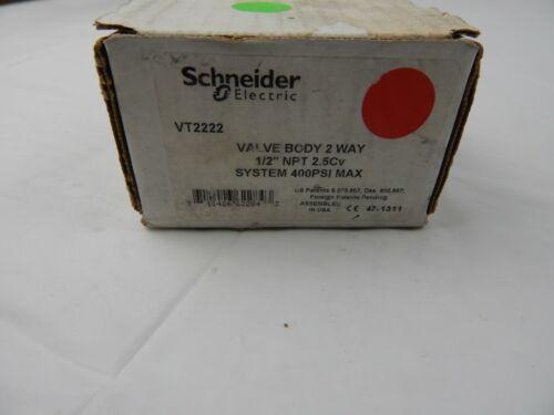 "Schneider Electric VT2222 Valve Body 2 Way 1//2/"" NPT 2.5Cv 400PSI Max"
