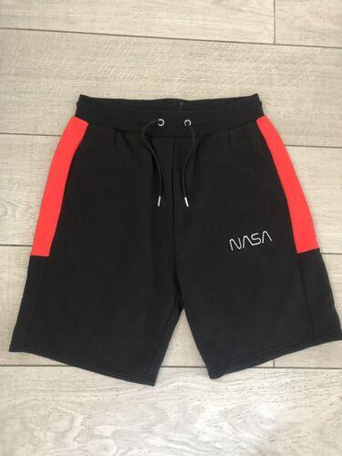 Official NASA Black//Red Fleece Shorts Reflective Primark Size Medium