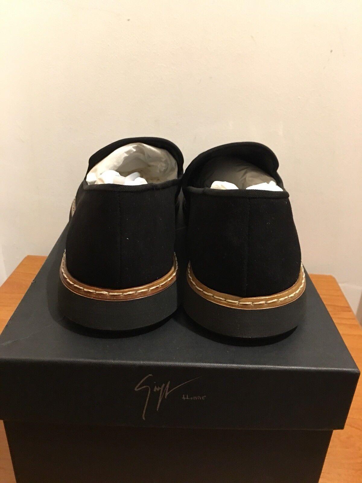 Giuseppe Zanotti Kelvin Logo Slip-On Schuhes UK with Metal Cap Größe UK Schuhes 7/EU 41 1d29a5