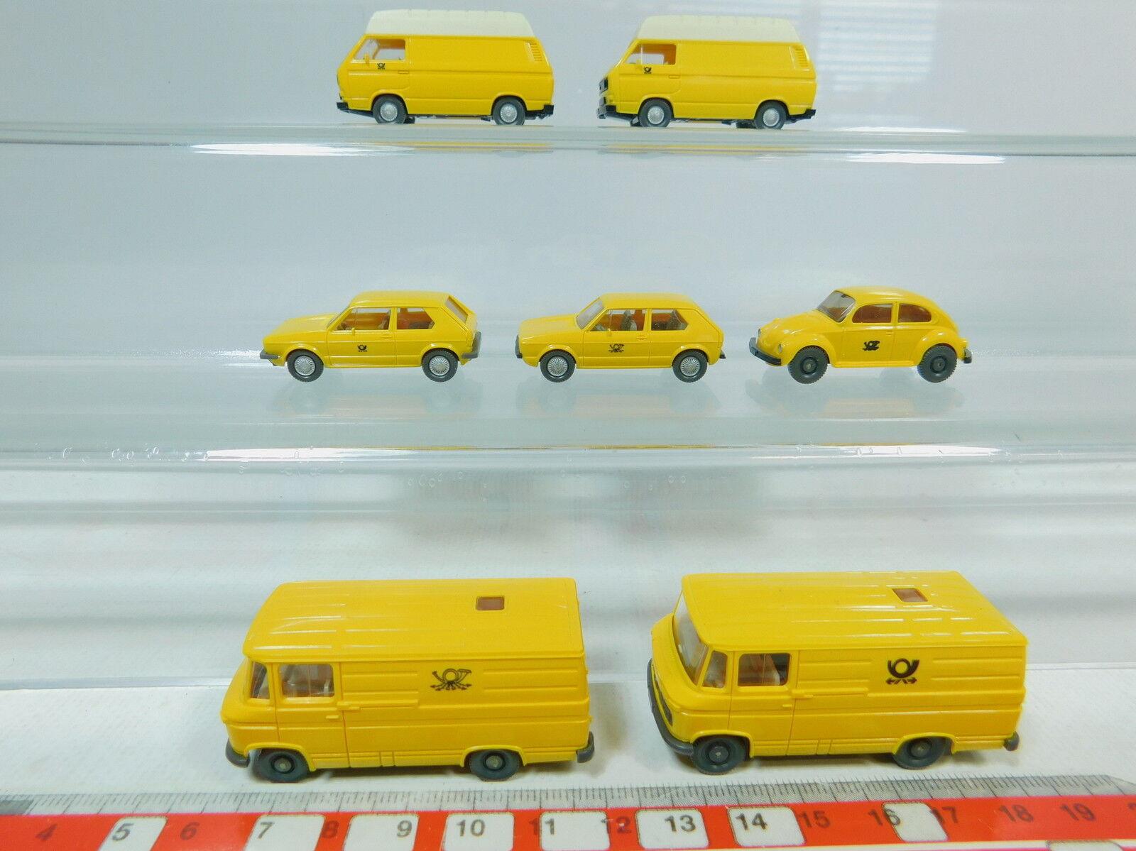AV171-0, 5 x Wiking H0 post Model  Volkswagen   VW + Mercedes-Benz   MB, Mint