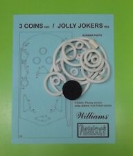 1962 Williams 3 Coins / Jolly Jokers pinball rubber ring kit