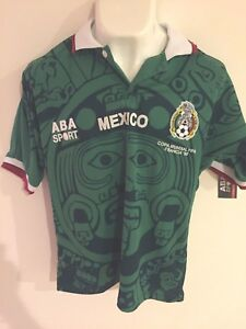 2ac0ba3ccec Image is loading Jersey-ABA-Sport-Mexico-Local-Mundial-Francia-1998-