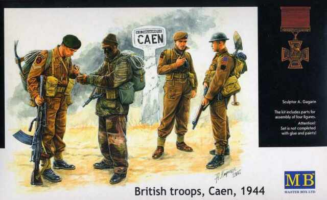 Master Box — British troops, Caen, 1944 — Plastic model kit 1:35 Scale #3512