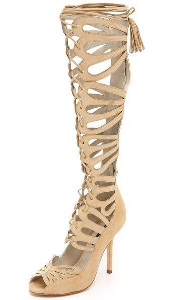 ALICE &OLIVIA  Naomi Gine High Svede Gladiator Sandals Sz 6.5US   compra nuovo economico