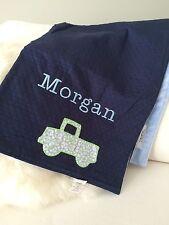 """Pottery Barn Kids Chamois Matelasse Stroller Blanket Embroidered """"Morgan"""""""