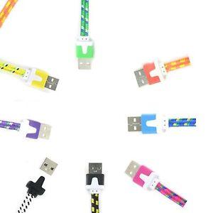 1M-Intrecciato-Micro-USB-Dati-Sincronizzazione-Cavo-Piombo-Per-Samsung-LG-HTC-MOTOROLA-NOKIA