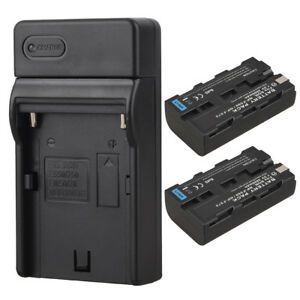 2x-NP-F550-NP-F570-Rechargeable-Li-ion-Battery-Charger-For-Sony-NP-F550-NP-F570