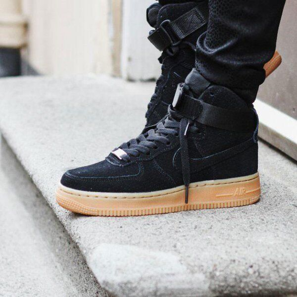 Nike Air Force 1 High  Black Suede Gum   Wmn Sz 9.5 749266-001