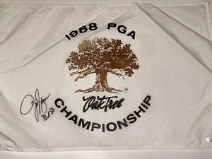 1988 PGA Championship Flag Signed By 88 Champion-Jeff Sluman COA JSA FF00941