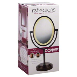 Conair Double Sided Lighted Makeup Mirror Vanity 1x 7x