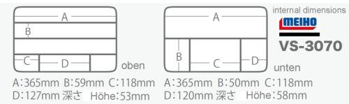 SET Double Side BIG Köder Box Meiho Versus 3070