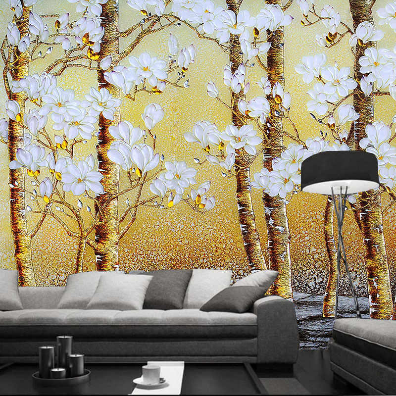 3D Flowering Trees 968 Wall Paper Wall Print Decal Wall Deco Wall Indoor Murals