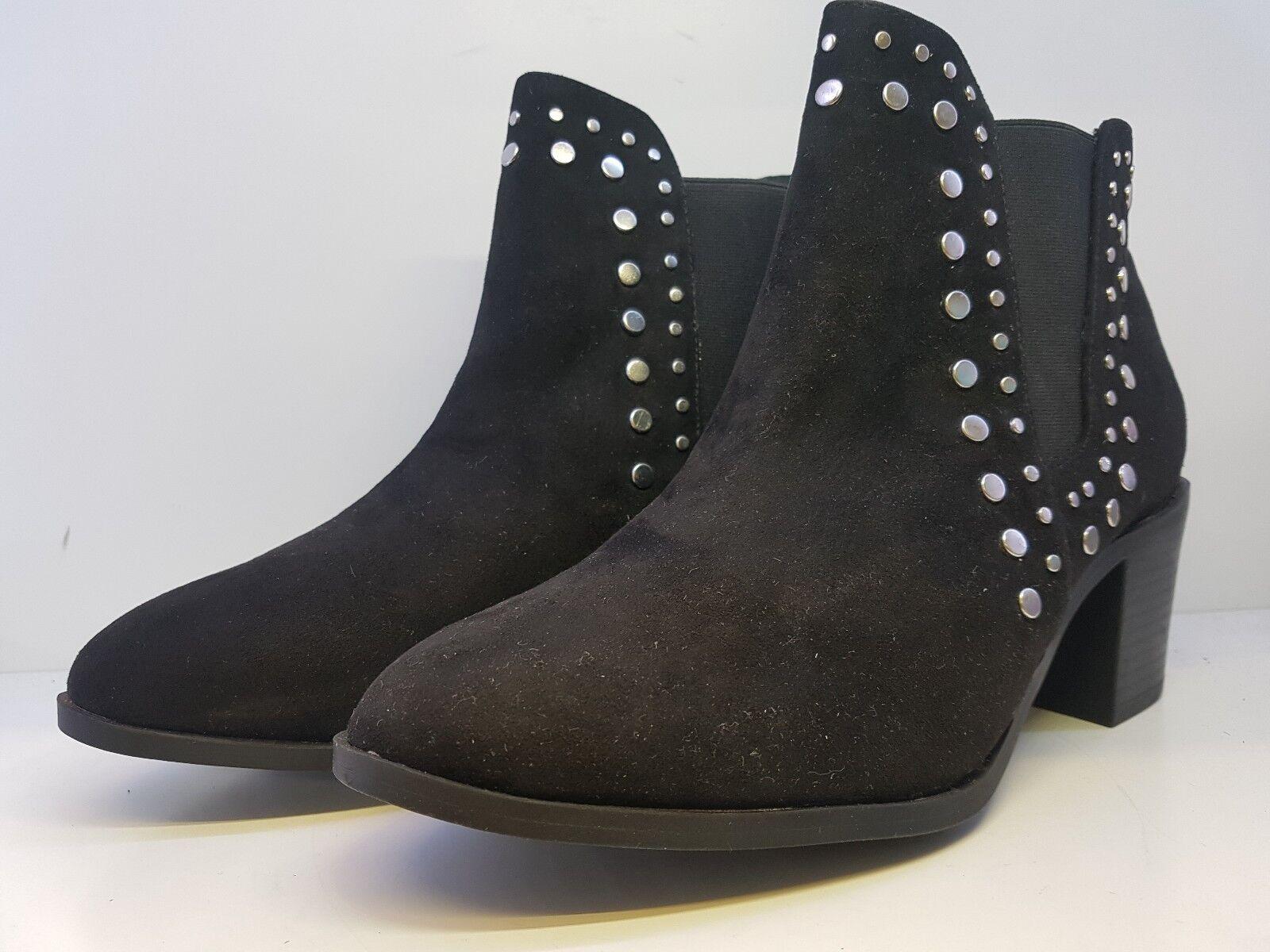 Sole Diva Womens Edita Stud Detail Black Boots Uk Size 7