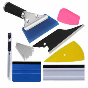 Car-Window-Film-Wrapping-Tint-Vinyl-Squeegee-Scraper-Applicator-Tools-Kit-USA
