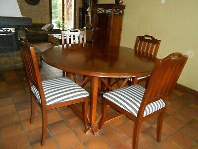 Table salle à manger ronde en merisier avec 6 chaises | eBay