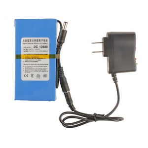 Super-Power-DC-12V-Portable-6800mAh-Li-ion-Rechargeable-Battery-Pack-AC-Charger