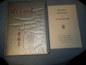 1962-VINELAND-HIGH-SCHOOL-YEARBOOK-PLUS-COMMENCEMENT-VINELAND-NJ