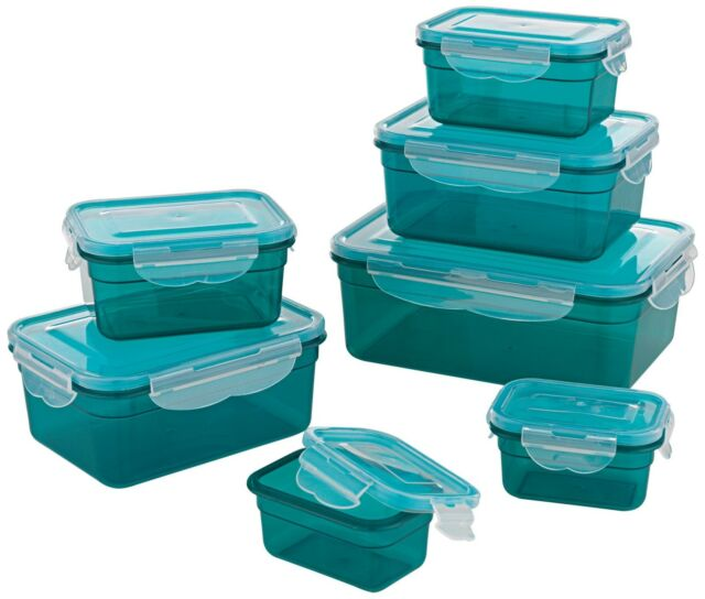 GOURMETmaxx 02914 BPA Free Food Storage Container Set 14 Pieces Container Set