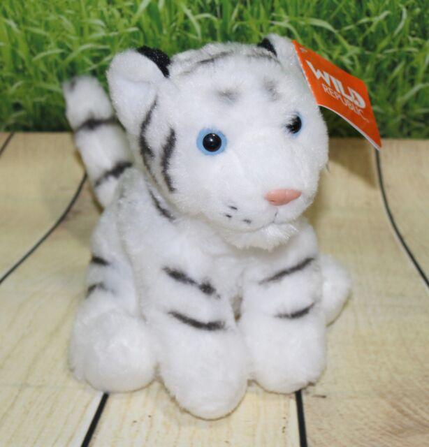 wild republic white tiger baby cub plush soft cuddly toy kitty cat 8