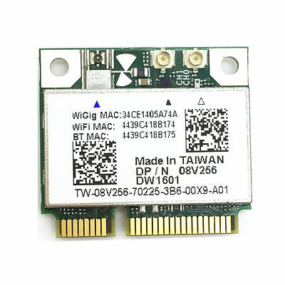NEW Dell Wireless DW1601 A2 QCA9005  WiGig 802.11AD Bluetooth4.0 PCIe Card JN0P4