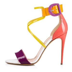 Women-Shoes-Peep-Toe-High-Heel-Sandals-Cross-Strap-Party-Clubwear-Dress-Heels