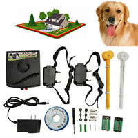 Pet Underground Electric Dog Fence Fencing System 2 Shock Collar Waterproof TO