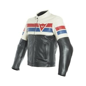 Dainese-8-track-ice-rouge-taille-56-motorrad-blouson-cuir