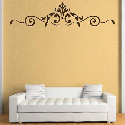 Royal Floral Border Wall Sticker Headboard Wall Decal Bedroom Home Decor