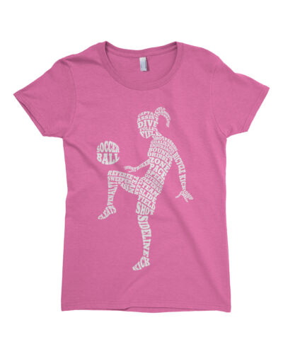 Soccer Player Typography Girls Fitted T-Shirt Girl Athlete Gift