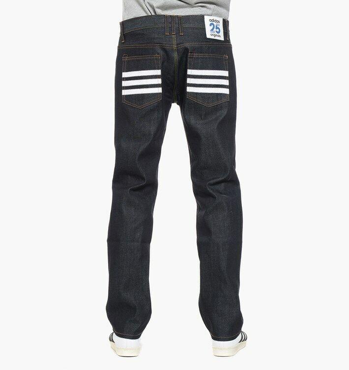 Adidas Originals Nigo Raw Denim Jeans 25th Anniversaire/rare & Interrompu 30 S