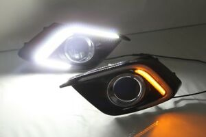 For Mazda 3 14-15 LED Daytime Running Light  DRL W/ Turn Signal Lamp