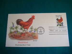 first day of issue fleetwood cachet 20c rhode island state bird