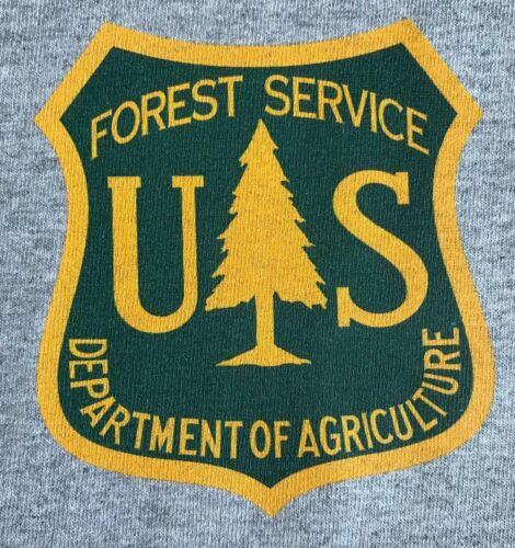 Departamento de Agricultura de servicio USFS forestales Gris Sin Mangas Músculo moral Camiseta