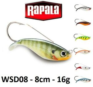 Rapala-Weedless-Shad-Sinking-Fishing-Lure-8cm-16g-Various-Colours