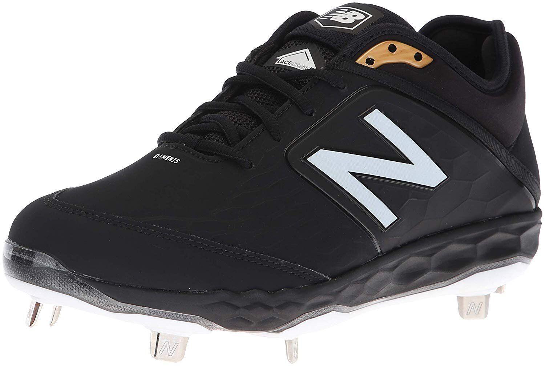 Black New Balance Men's 3000v4 Metal Baseball shoes